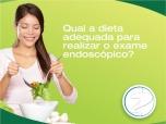Qual a dieta indicada antes de realizar o exame endoscópico?